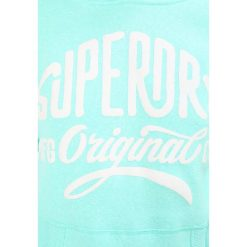 Bluzy damskie: Superdry ENTRY HOOD Bluza z kapturem washed mint snowy