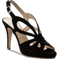Rzymianki damskie: Sandały BRENDA ZARO – T2528 Suede Negro