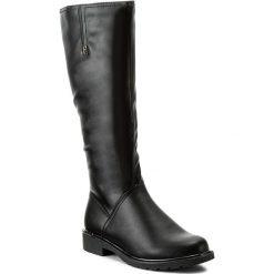 Kozaki JENNY FAIRY - WYL1017A-4 Czarny. Czarne buty zimowe damskie marki Kazar, ze skóry, na wysokim obcasie. Za 159,99 zł.