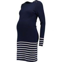 Sukienki: JoJo Maman Bébé STRIPE Sukienka dzianinowa navy/ecru