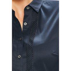 Tommy Hilfiger - Koszula Roya. Szare koszule damskie marki TOMMY HILFIGER, z bawełny, casualowe, z klasycznym kołnierzykiem, z długim rękawem. Za 359,90 zł.
