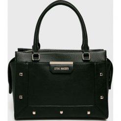 Steve Madden - Torebka. Czarne torebki klasyczne damskie marki Steve Madden, w paski, z materiału, średnie. W wyprzedaży za 299,90 zł.