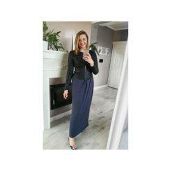 Sukienki ciążowe: MAXI LONG | SUKIENKA GRANATOWY