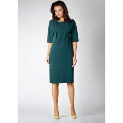 Zielona Elegancka Prosta Sukienka z Asymetrycznym Zapięciem. Szare sukienki asymetryczne marki Sinsay, l, z dekoltem na plecach. W wyprzedaży za 119,88 zł.