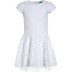 Sukienki dziewczęce z falbanami: Benetton DRESS Sukienka koktajlowa white