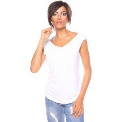 """Bluzki asymetryczne: Koszulka """"Chichko"""" w kolorze białym"""