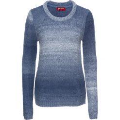 Swetry klasyczne damskie: Sweter, długi rękaw bonprix indygo-biały