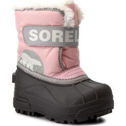 Kozaki dziewczęce: Śniegowce SOREL – Toddler Snow Commander NV1877 Cupid/Dove 651