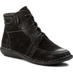 Botki LASOCKI - YARIS-12 Czarny. Czarne buty zimowe damskie Lasocki, z nubiku. Za 179,99 zł.