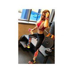 Odzież sportowa damska: LEGGINSY POP Z SIATKĄ