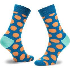 Skarpety Wysokie Unisex HAPPY SOCKS - BDO01-6005 Granatowy Kolorowy. Niebieskie skarpetki męskie Happy Socks, w kolorowe wzory, z bawełny. Za 34,90 zł.