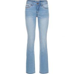 Dżinsy ze stretchem Premium STRAIGHT bonprix jasnoniebieski. Niebieskie boyfriendy damskie bonprix. Za 129,99 zł.
