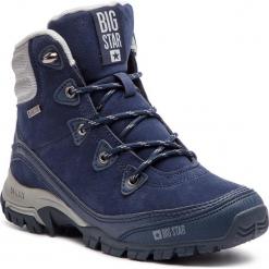 Trekkingi BIG STAR - BB274626 Granat. Szare buty zimowe damskie marki BIG STAR, z materiału. W wyprzedaży za 149,00 zł.