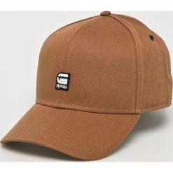 G-Star Raw - Czapka. Brązowe czapki z daszkiem męskie G-Star RAW. W wyprzedaży za 139,90 zł.