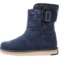 Sorel NEWBIE Śniegowce dunkelblau. Niebieskie buty zimowe damskie Sorel, z materiału. Za 399,00 zł.