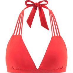 Stroje dwuczęściowe damskie: Biustonosz bikini z trójkątnymi miseczkami bonprix czerwony
