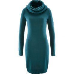 Sukienka dzianinowa z golfem bonprix niebieskozielony. Niebieskie sukienki dzianinowe marki bonprix, z golfem. Za 74,99 zł.