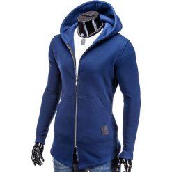 Bluzy męskie: BLUZA MĘSKA ROZPINANA Z KAPTUREM B326 – GRANATOWA