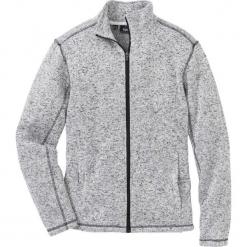 Bluza  rozpinana melanżowa z polaru Regular Fit bonprix jasnoszary melanż. Czerwone bluzy męskie rozpinane marki KALENJI, m, z elastanu, z długim rękawem, długie. Za 109,99 zł.