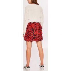 Vero Moda - Spódnica. Szare minispódniczki marki Vero Moda, l, z materiału, rozkloszowane. Za 149,90 zł.
