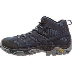 Merrell MOAB 2 MID GTX Buty trekkingowe navy. Niebieskie buty trekkingowe męskie Merrell, z materiału, outdoorowe. Za 629,00 zł.