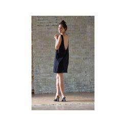SUKIENKA AIR czarna. Czarne sukienki na komunię LOUS, na plażę, z bawełny, na ramiączkach. Za 250,00 zł.