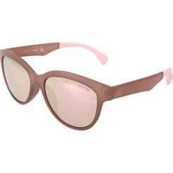 """Okulary przeciwsłoneczne damskie: Okulary przeciwsłoneczne """"GU7433"""" w kolorze brązowo-jasnoróżowym"""