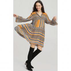 CVamelowa Sukienka Backgrounds. Brązowe sukienki other, uniwersalny, z koszulowym kołnierzykiem, koszulowe. Za 79,99 zł.