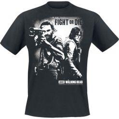 The Walking Dead Rick Grimes And Daryl Dixon - Fight Or Die T-Shirt czarny. Niebieskie t-shirty męskie z nadrukiem marki Reserved, l, z okrągłym kołnierzem. Za 54,90 zł.