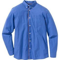 Koszula z długim rękawem Regular Fit bonprix jasnoniebieski. Białe koszule męskie na spinki marki bonprix, z klasycznym kołnierzykiem, z długim rękawem. Za 49,99 zł.