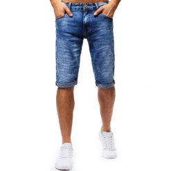 Spodenki i szorty męskie: Spodenki męskie jeansowe niebieskie (sx0670)