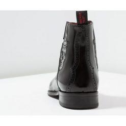 Jeffery West SCARFACE SKULL TOPHAT CHELSEA BOOT Botki black. Czarne botki męskie Jeffery West, z materiału. Za 1049,00 zł.