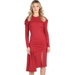 Sukienki: Sukienka w kolorze bordowym