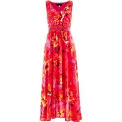 Sukienki: Sukienka szyfonowa bonprix ciemnoróżowy z nadrukiem