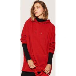 Bluza oversize - Czerwony. Czerwone bluzy damskie marki House, l. Za 89,99 zł.