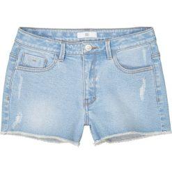 Dżinsowe spodenki destroy 10-16 lat. Niebieskie spodenki chłopięce La Redoute Collections, z bawełny, młodzieżowe. Za 88,16 zł.