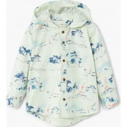 Mango Kids - Koszula dziecięca Mareaw 80-104 cm. Szare koszule chłopięce z długim rękawem Mango Kids, z bawełny. W wyprzedaży za 39,90 zł.