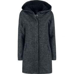 Sublevel Long Melange Sweat Coat Bluza z kapturem rozpinana damska odcienie czarnego. Czarne bluzy rozpinane damskie marki Sublevel, m, z kapturem. Za 199,90 zł.