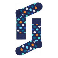 Skarpety Happy Socks Big Dots (BD01-605). Białe skarpetki męskie Happy Socks, z bawełny. Za 29,99 zł.