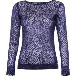 Bluzka. Niebieskie bluzki asymetryczne Simple, w koronkowe wzory, z koronki. Za 239,90 zł.