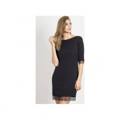 Sukienka Hilary. Czarne sukienki balowe marki Wow fashion, w koronkowe wzory, z koronki, proste. Za 299,00 zł.