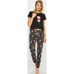Answear - Piżama. Szare piżamy damskie marki ANSWEAR, l, z nadrukiem, z bawełny. Za 129,90 zł.
