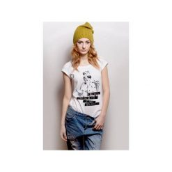 T-shirt Damski by Marta Frej ZNAM SWOJE MIEJSCE. Białe t-shirty damskie CADOaccessories, l, z nadrukiem, z bawełny, z klasycznym kołnierzykiem. Za 69,00 zł.