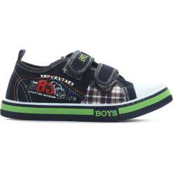 Granatowe Trampki School Junior. Niebieskie buty sportowe chłopięce Born2be, z denimu. Za 29,99 zł.
