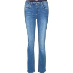 """Spodnie z wysokim stanem: Dżinsy """"Marylin"""" w kolorze niebieskim"""