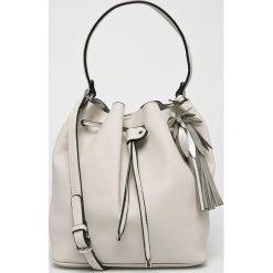 Answear - Torebka. Szare torebki klasyczne damskie marki ANSWEAR, w paski, z materiału, duże. W wyprzedaży za 99,90 zł.