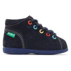 Wysokie buty sportowe BABYSTAD. Niebieskie buty sportowe dziewczęce marki Kickers, z kauczuku, na sznurówki. Za 335,96 zł.
