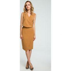 Sukienka z drapowaniem moe395. Zielone sukienki balowe marki Moe, do pracy, s. Za 149,00 zł.