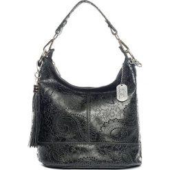 Torebki klasyczne damskie: Skórzana torebka w kolorze czarnym – 27 x 24 x 13 cm