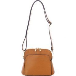 Torebki klasyczne damskie: Skórzana torebka w kolorze brązowym – 23 x 12 x 7 cm